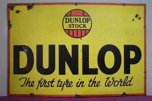 Dunlop Tyre Advertising Enamel Sign