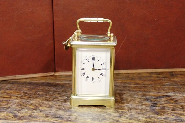Early 20th Century Brass Carrige Clock
