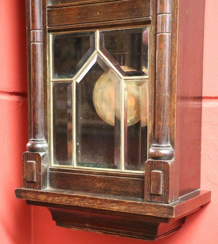 Early 20th Century Oak Wall Clock