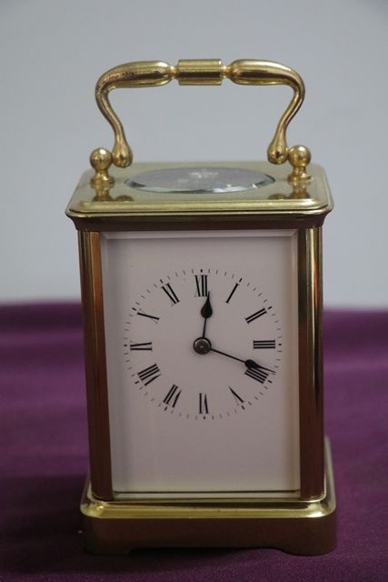 Early 20th Century french Carriage Clock With Bell Strike