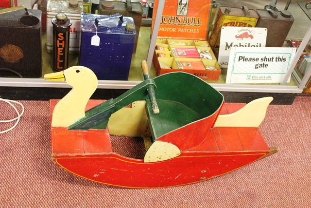 Early And Rare Duck Rocking Chair