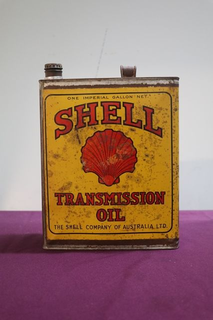 Early Australian Shell One Gallon Transmission Oil Tin