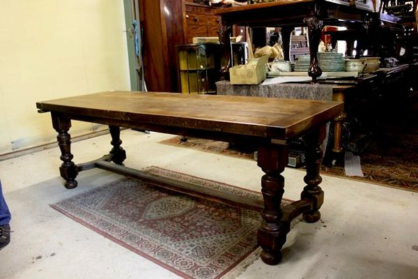 Early C20th Oak Refectory Table
