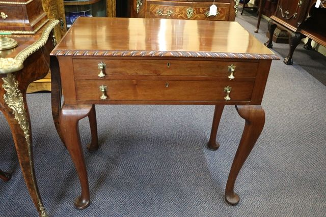 Early C20th Queen Ann Style Cutlery Canteen Table