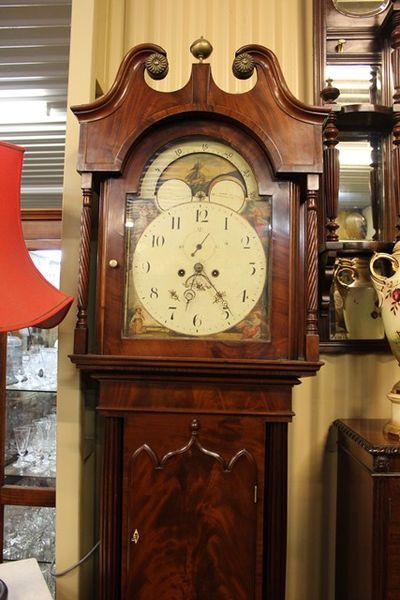 Early Flame Mahogany Long Case Clock