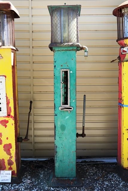 Early Manual Petrol Pump