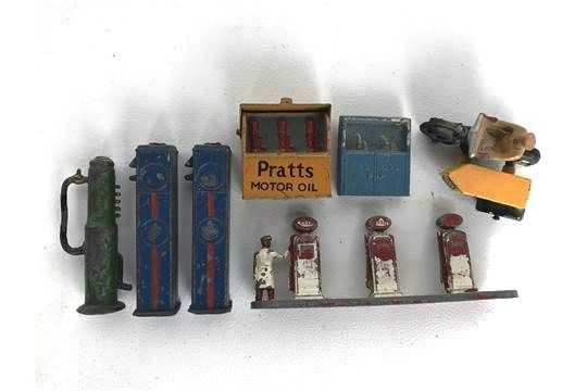 Early Miniature Petrol Pumps and Oil Cabinets