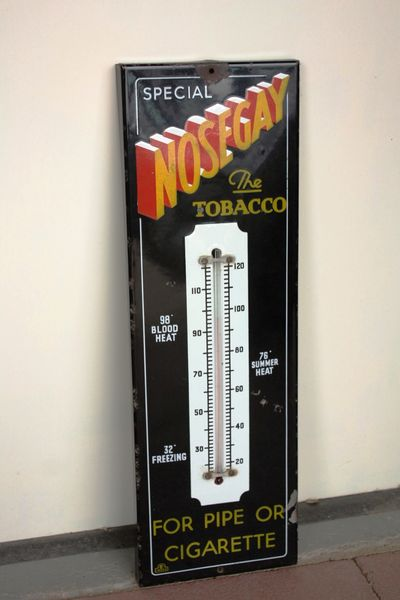 Early Nosegay Enamel Thermometer