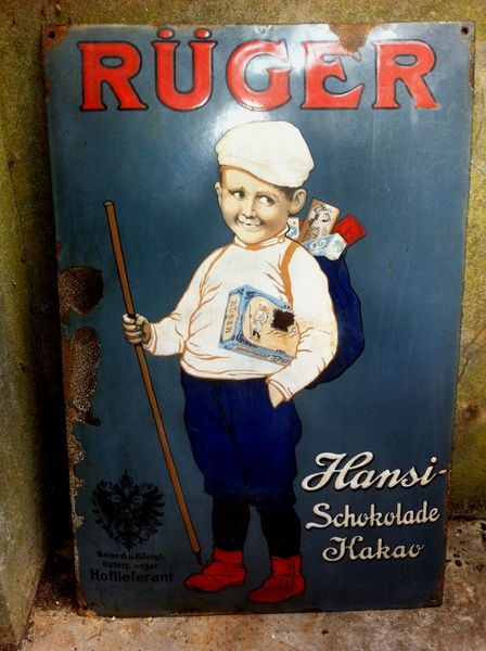 Early Ruger Pictorial Enamel Advertising Sign Arriving Nov