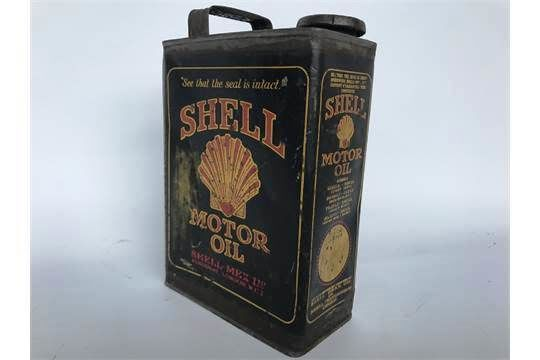 Early Shell Black Half Gallon Can