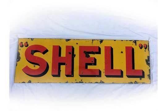 Early Shell Enamel Sign