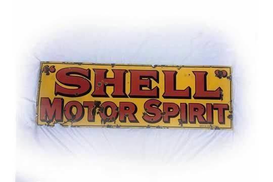 Early Shell Motor Spirit Enamel Sign