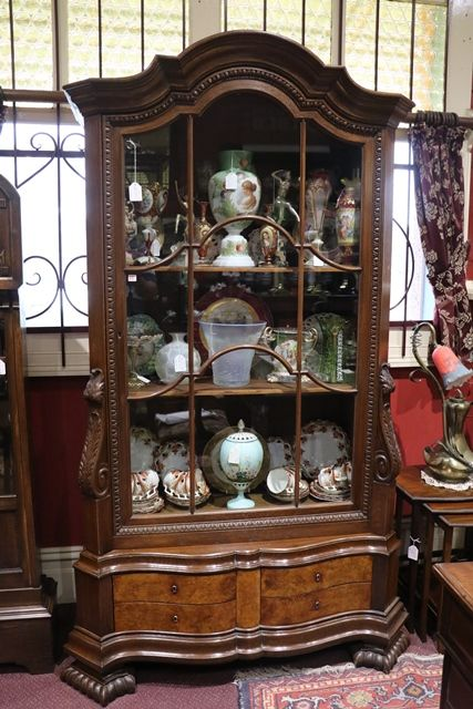 Early Twentieth Century Single Door Dutch Display Cabinet