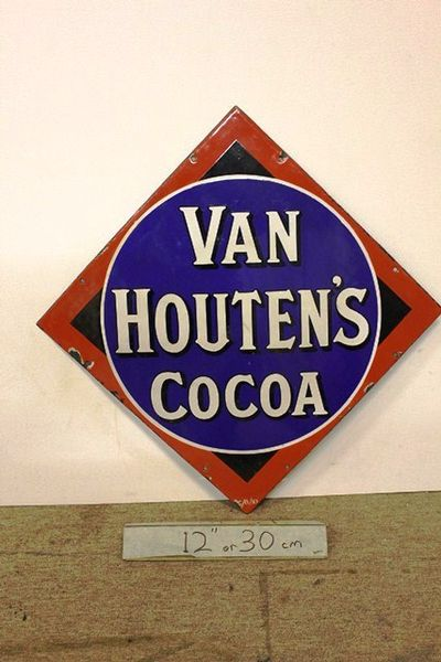 Early Van Houtens Cocoa Enamel Sign