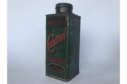 Early Wakefield Castrol Quart Caddy Tin