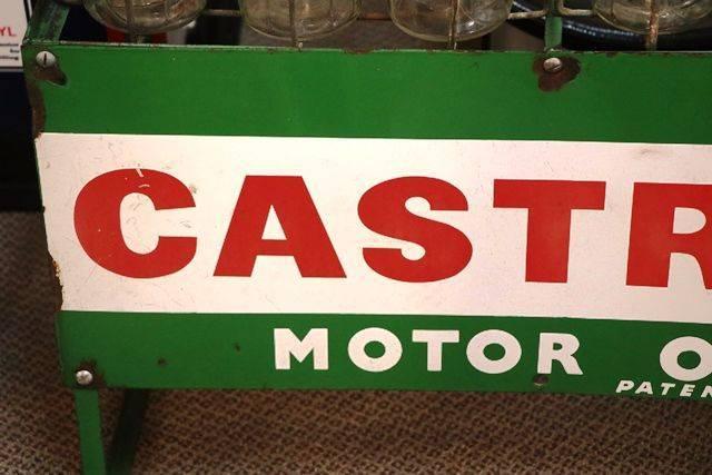 Enamel Front Castrol Z 12 Bottle Oil Rack