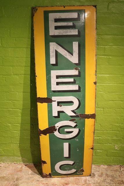 Energic Enamel Advertising Sign