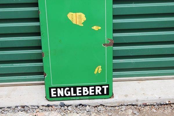 Englebert Enamel Tyre Chart Sign
