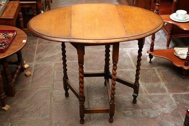 English Oak Gate Leg Table C1920