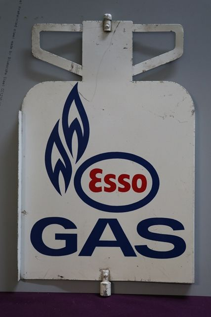 Esso Gas Double Sided Enamel Advertising Sign
