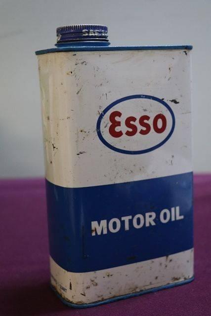 Esso One Quart Motor Oil Tin