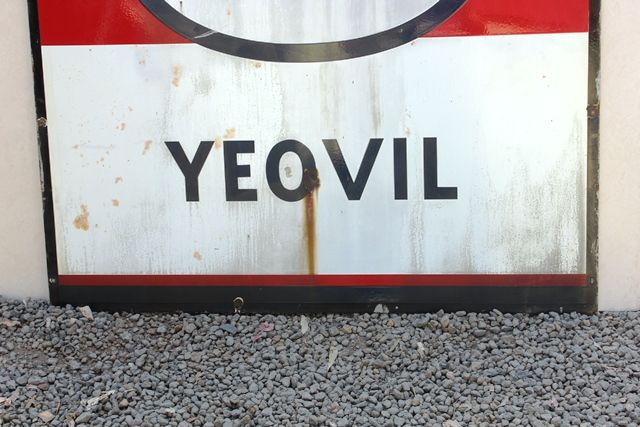 Esso Yeovil Enamel Advertising Sign