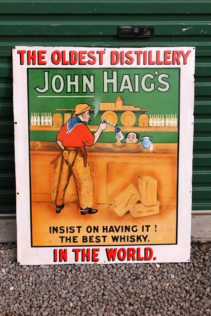Exceptional And Rare John Haig Enamel Advertising Sign