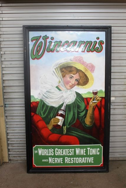 Exceptional And Rare Wincarnis Pictorial Enamel Sign