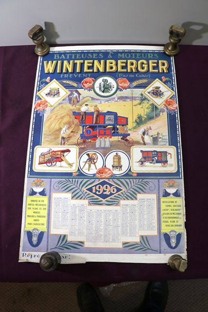 Farming Poster 1926 Wintenberger CalendarPoster