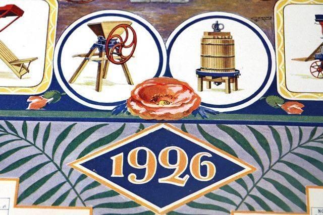 Farming Poster 1926 Wintenberger CalendarPoster