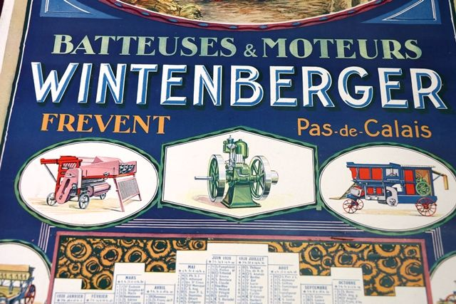 Farming Poster  1928 Wintenburger CalendarPoster