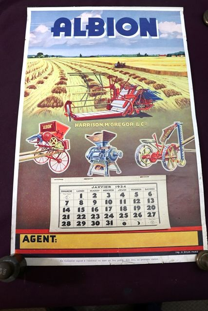 Farming Poster  1934 Albion CalendarPoster