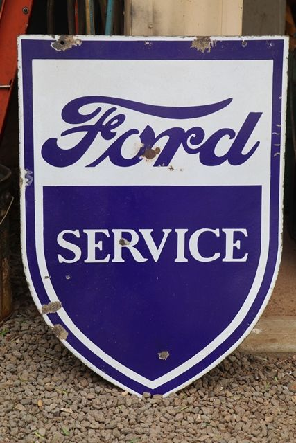 Ford Double Sided Enamel Advertising Sign