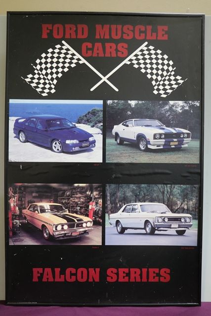 Ford Muscle Cars Falcon Series Pictorial Advertising Framed Sign