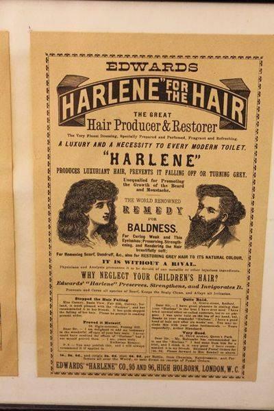Framed Harlene For Hair Advertising Print