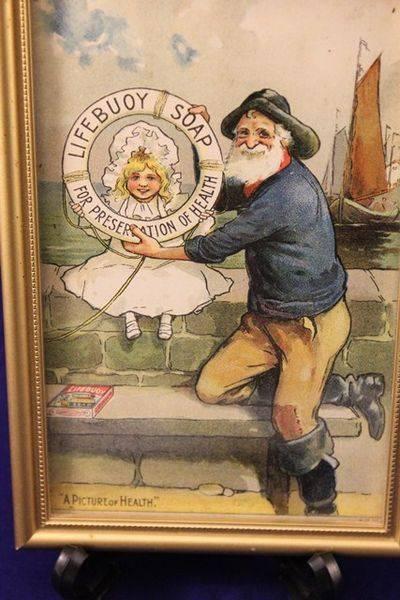 Framed LifeBouy Soap Advertising Print