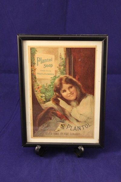Framed Plantol Soap Print