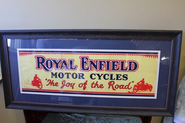 Framed Royal Enfield Motorcycles Advertising Poster