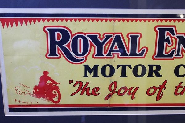 Framed Royal Enfield Motorcycles Advertising Poster