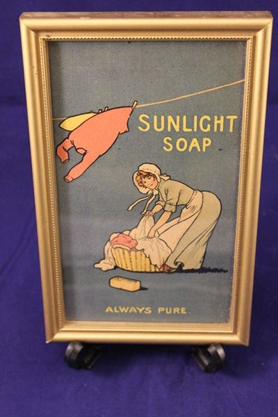 Framed Sunlight Soap Advertising Print