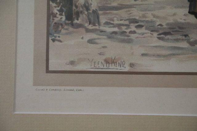 Framed Victorian Print  Signed Yeend King