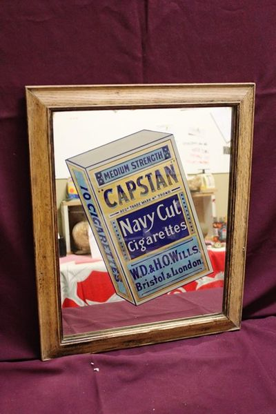 Framed Willand96s Capstan Advertising Mirror