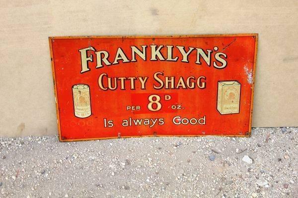 Franklyns Cutty Shagg Tobacco Tin Sign