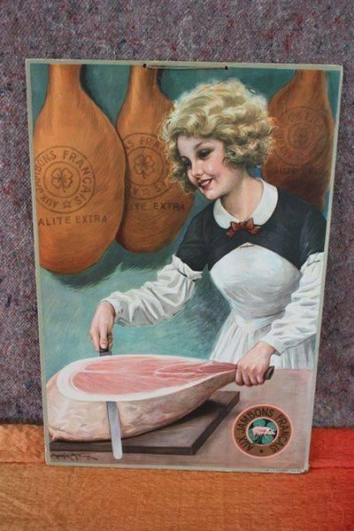 French Hams Shop Display Card