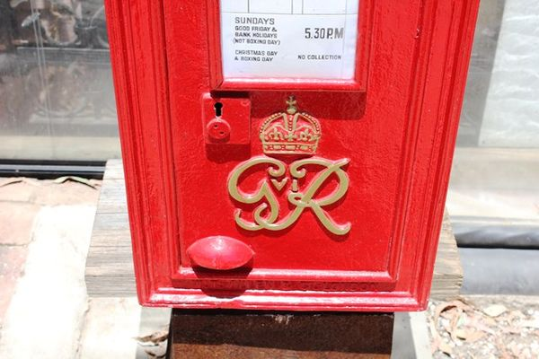 Genuine Antique British Post Box