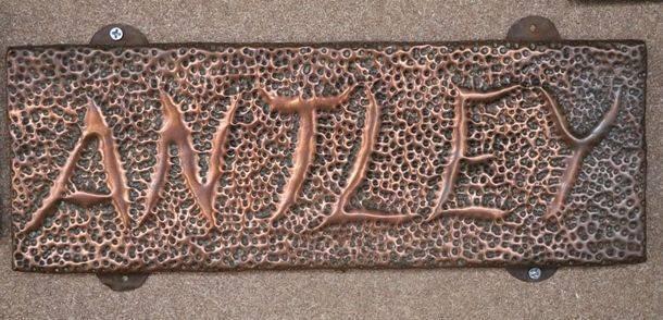 Genuine House Name Plate andquotANTLEYandquot
