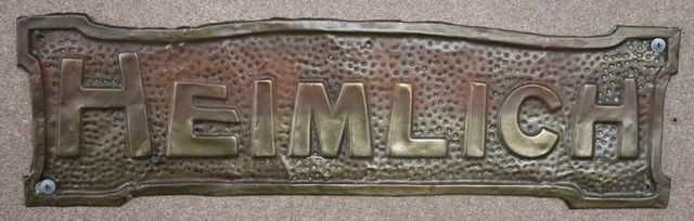 Genuine House Name Plate andquotHEIMLICHandquot