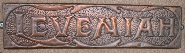 Genuine House Name Plate andquotLEVEMIAHandquot