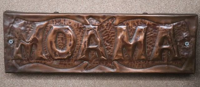 Genuine House Name Plate andquotMOAMAandquot