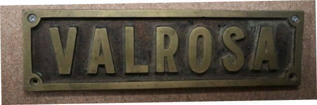 Genuine House Name Plate andquotVALROSAandquot